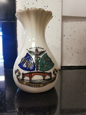 Arcadian Crested China - Mini Vase - Rotherham Crest - A&S - J. Stansfield • 9.99£