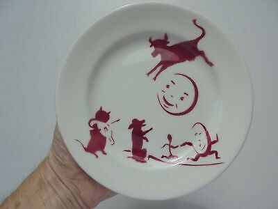 Antique Vintage Sterling China Ohio Nursery Rhyme Childs Plate Hey Diddle Diddle • 15.30£