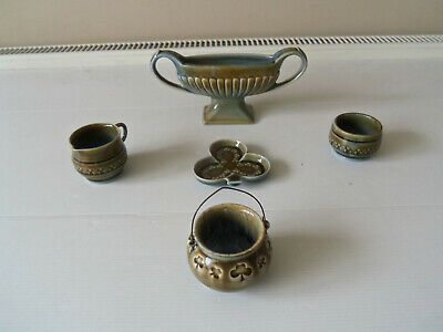 Vintage Job Lot 5 Wade Decorative Pottery Items- All Irish Manufacture • 7.50£
