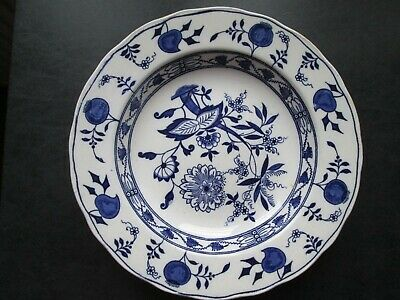 Antique Blue & White Wedgwood 'Onion' Soup Plate. • 25£