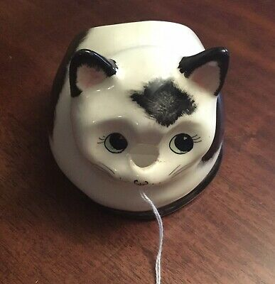 Vintage 1970s BABBACOMBE POTTERY Cat String Holder • 3.99£