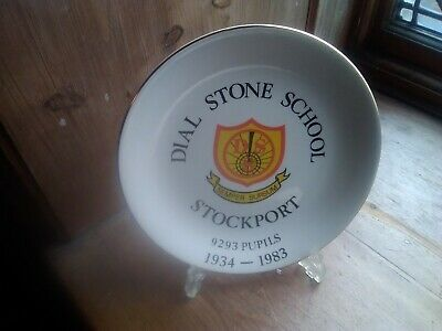 Dial Stone School Stockport Commemorative  Pottery Plate  Gladstone Museum • 12.75£