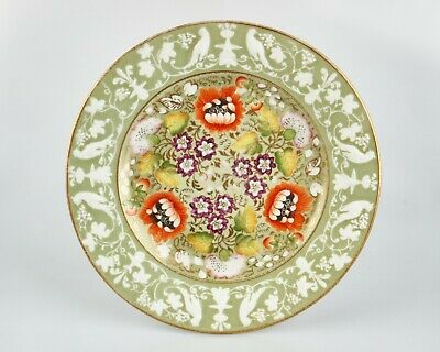 Antique 19th Century Victorian Birds And Flowers Porcelain Plate. • 10£