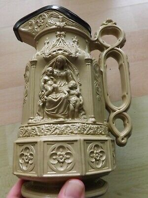 Large Superb Victorian Charles Meigh Minster Pattern Moulded Jug Dated 1854 VGC • 59£