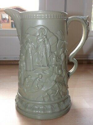Large Superb Victorian Ridgway & Ablington Moses Design Moulded Jug C1858 VGC • 0.99£