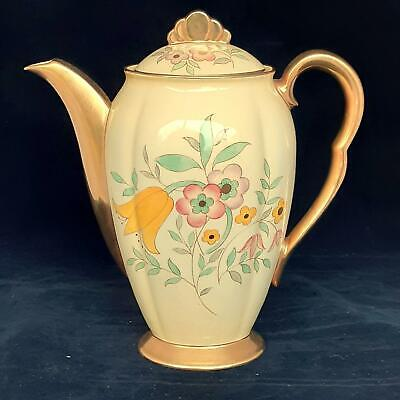 CARLTON WARE Floral ART DECO COFFEE POT 4190 1930's • 15£