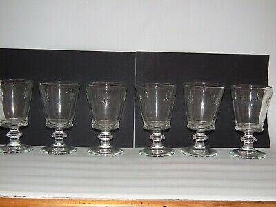Vintage La Rochere Bee Glasses    Six  Of  Each     ( 12 In All ) • 60£