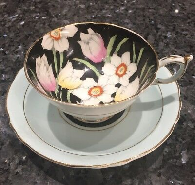 Superb Paragon Bone China Hand Painted Floral Flowers Cabinet Tea Cup & Saucer • 45£