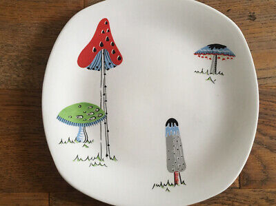 Midwinter Toadstools Jessie Tait Stylecraft Large Side Plate • 65£