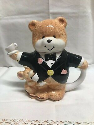 Paws For Thought Teddy Bear Teapot - Excellent Condition • 5£