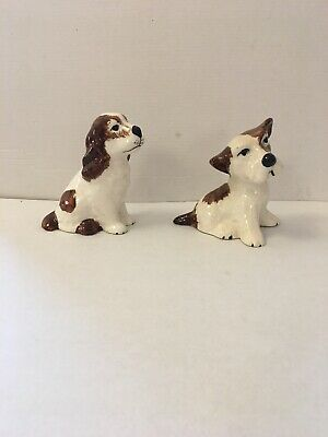 Two Campsie Ware Dogs Scottish Pottery • 12.50£