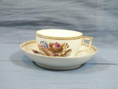 18c GERMAN MEISSEN MARCOLINI COFFEE CUP & SAUCER GOLD FLORAL PATTERN  C1790  B • 29.95£