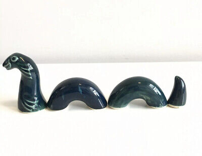 LOCH NESS MONSTER 4 Piece POTTERY ORNAMENT By AVIEMORE POTTERY SCOTLAND • 25£