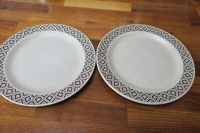 1x Vintage Purbeck Pottery 'brown Diamond' Supper/breaky Plates 8.5  Diam  +more • 6.50£