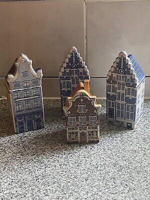 Delft Pottery Houses X 4 • 35£