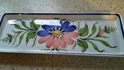 Long Rectangular Sandwich Plate/tray - Hand Painted Portugal • 10£