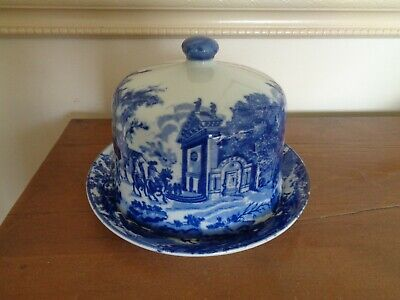 Victoria Ware Blue & White Flow Blue Cheese Dome • 35£