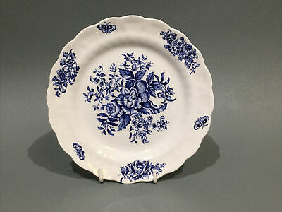 "Booths China "" Peony "" Blue & White Side Plate • 4.95£"
