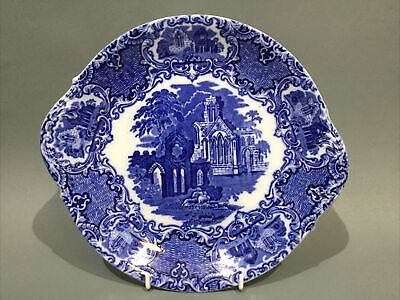 """Vintage Blue & White China George Jones & Sons """" Abbey """" Cake Plate • 12.95£"""