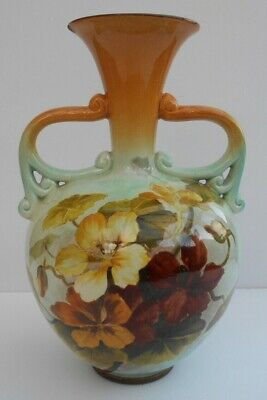 Beautiful Royal Doulton Faience Vase Painted Flowers By Emily J Gilman • 90£
