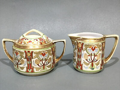 Vintage Noritake Porcelain Cream Jug & Covered Sugar • 24.95£
