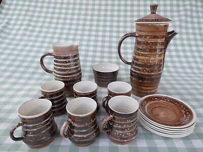 Coffee Set. Studio Pottery. Cinque Ports Pottery. The Monastery Rye. 1960s. • 25£