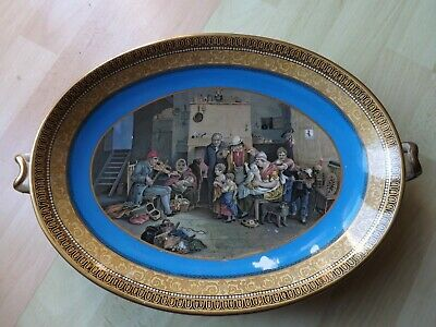 Rare Prattware Comport Decorated By Sir David Wilkie RA The Blind Fiddler C1850 • 39.99£