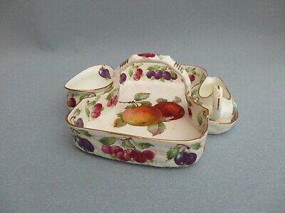 Vintage Hammersley Bone China Strawberry Serving Basket Dish Sugar Creamer  • 29.99£