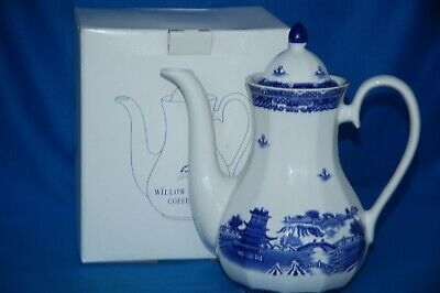 Boxed Wade For Ringtons  Blue And White Willow Pattern Coffee Pot • 9.99£