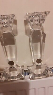Xavier Crystal Candle Sticks Boxed • 15£