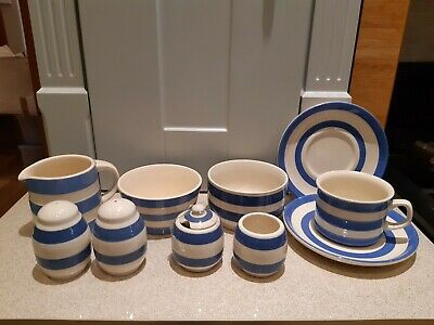 Selection Of TG Green Cornishware And Staffordshire Blue & White • 30£