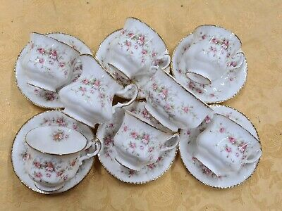 Vintage Paragon Victoriana Rose China Coffee Set Cups And Saucers Pink Floral  • 41.51£
