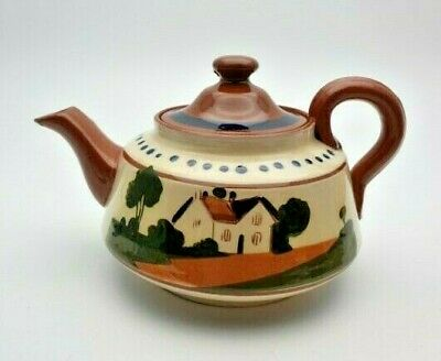 Antique Watcombe Torquay Ware / Motto Ware Teapot - Perfect • 19.99£