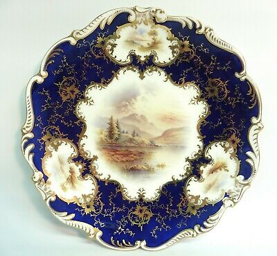 E20c Coalport Hand Painted Cabinet Plate  Langdale Pikes  By Percy Simpson • 11.50£