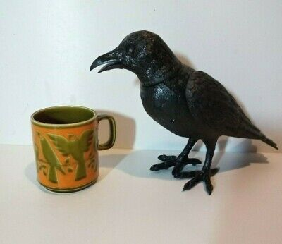 Rare Vintage 1970s Hornsea Bird Mug In Green And Orange By John Clappison. • 24.99£