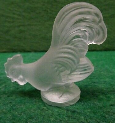 Lalique Style Small Glass Cockrell Figure. • 2.99£