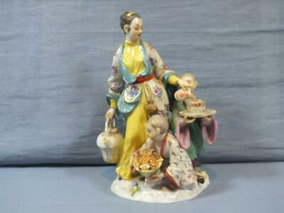 Rare German Meissen Chinese Woman & Two Children Family Figure Group Reinicke • 249£