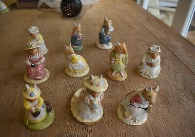 Royal Doulton, Brambly Hedge Figurines, Set Of 10 • 75£