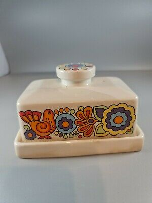 Mid Century Lord Nelson Pottery 'Gaytime' Butter Dish • 14.70£