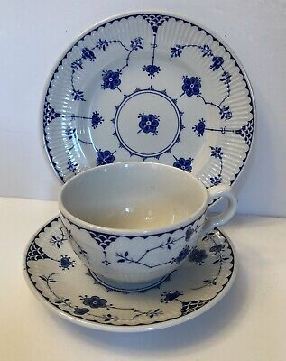 Johnson Bros. Blue Denmark Tea Trio • 5£