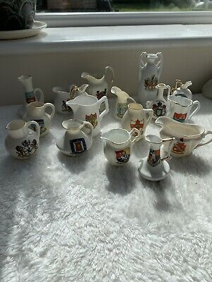 Collection Of Crested Souvenir Ware And Other Items 17 Pieces Jug Pitcher Vase • 5£