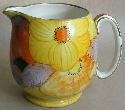 GRAYS POTTERY A1164 HAND PAINTED JUG DATE 1933 DESIGNER B.I.F. (Ref6542) • 110£