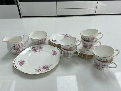 Beautiful Duchess Fine Bone China Pink  Floral 21 Piece Tea Set Never Used • 20£