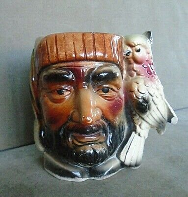Vintage Pirate Toby Jug With Parrot Handle. VGC • 3.99£