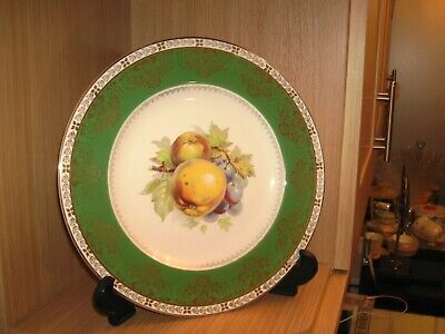 Crown Ducal Vintage - Antique 10 1/4  Cabinet Plate With Fruit And Gold Edged • 10£