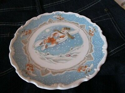 Royal Doulton 1985 The Snowman Walking On Air  First Series  Plate • 9.99£