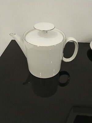 Thomas Germany Porcelain Medallion Tea Pot Platinum Band • 6£