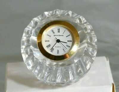 Tyrone Crystal Miniature Paperweight Clock -  2  -  Stamped • 4.99£