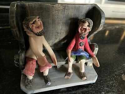 Alan Young Pottery Two Sailors On A Bench With Fish • 40£
