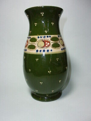 Antique Aller Vale Painted Pottery Vase, 7 3/4  ( 19.7 Cm ). • 7.99£